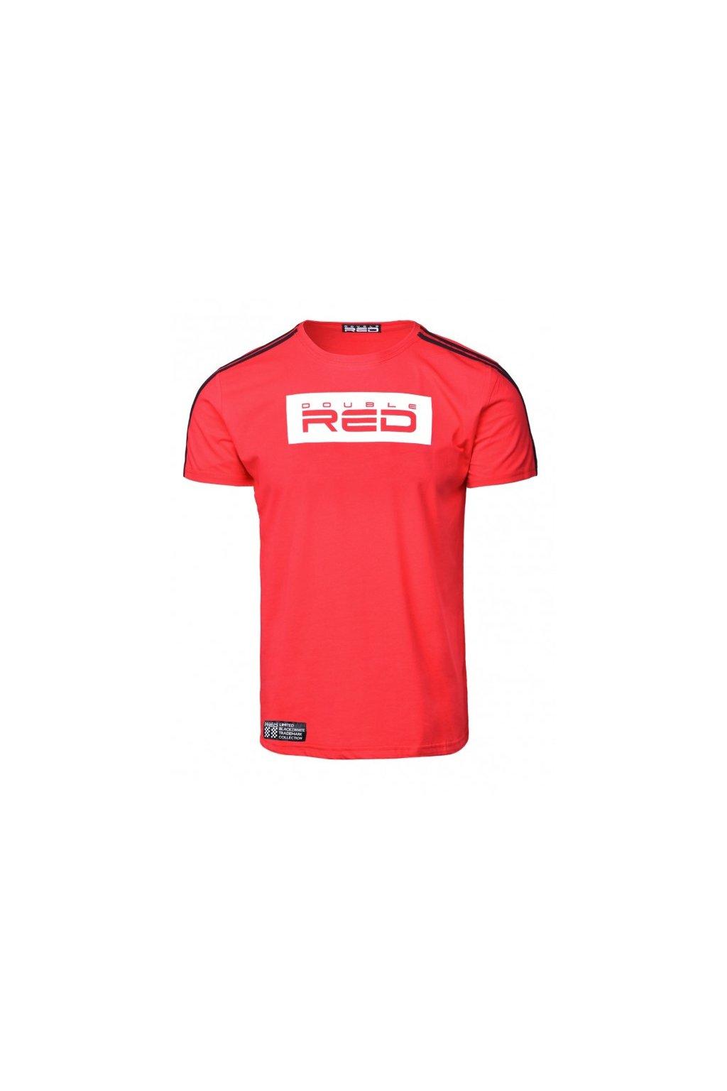 Pánské triko Double Red B&W Edition červená obr1