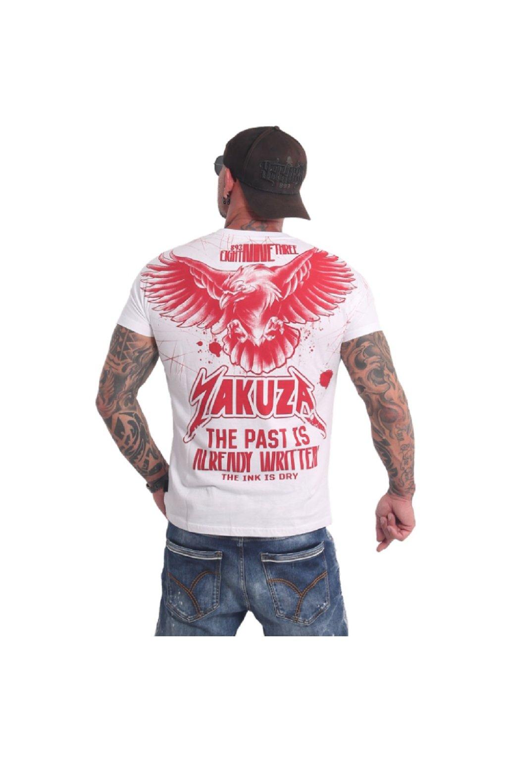 Pánské triko Yakuza Dry Ink TSB 16026 bílá obr1