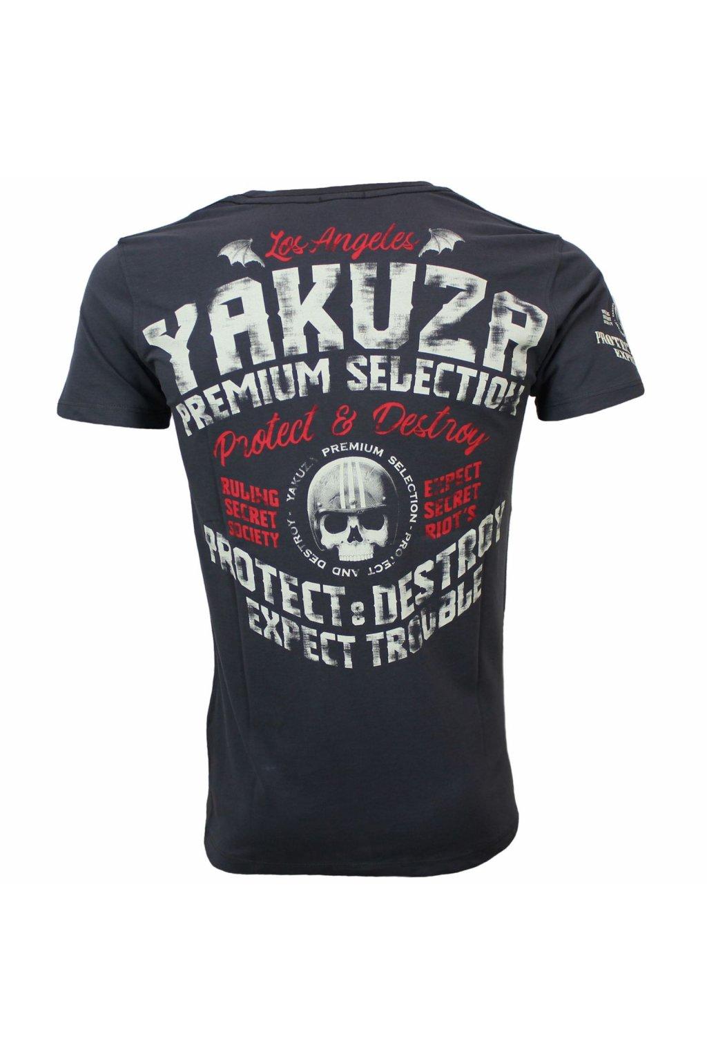 Pánské triko Yakuza Premium 3012 tmavě šedá obr1