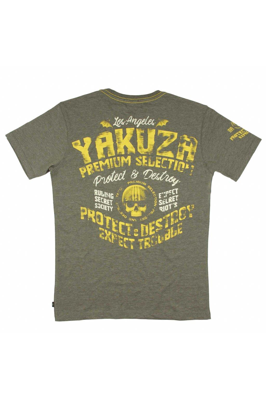 Pánské triko Yakuza Premium 3012 oliv obr1