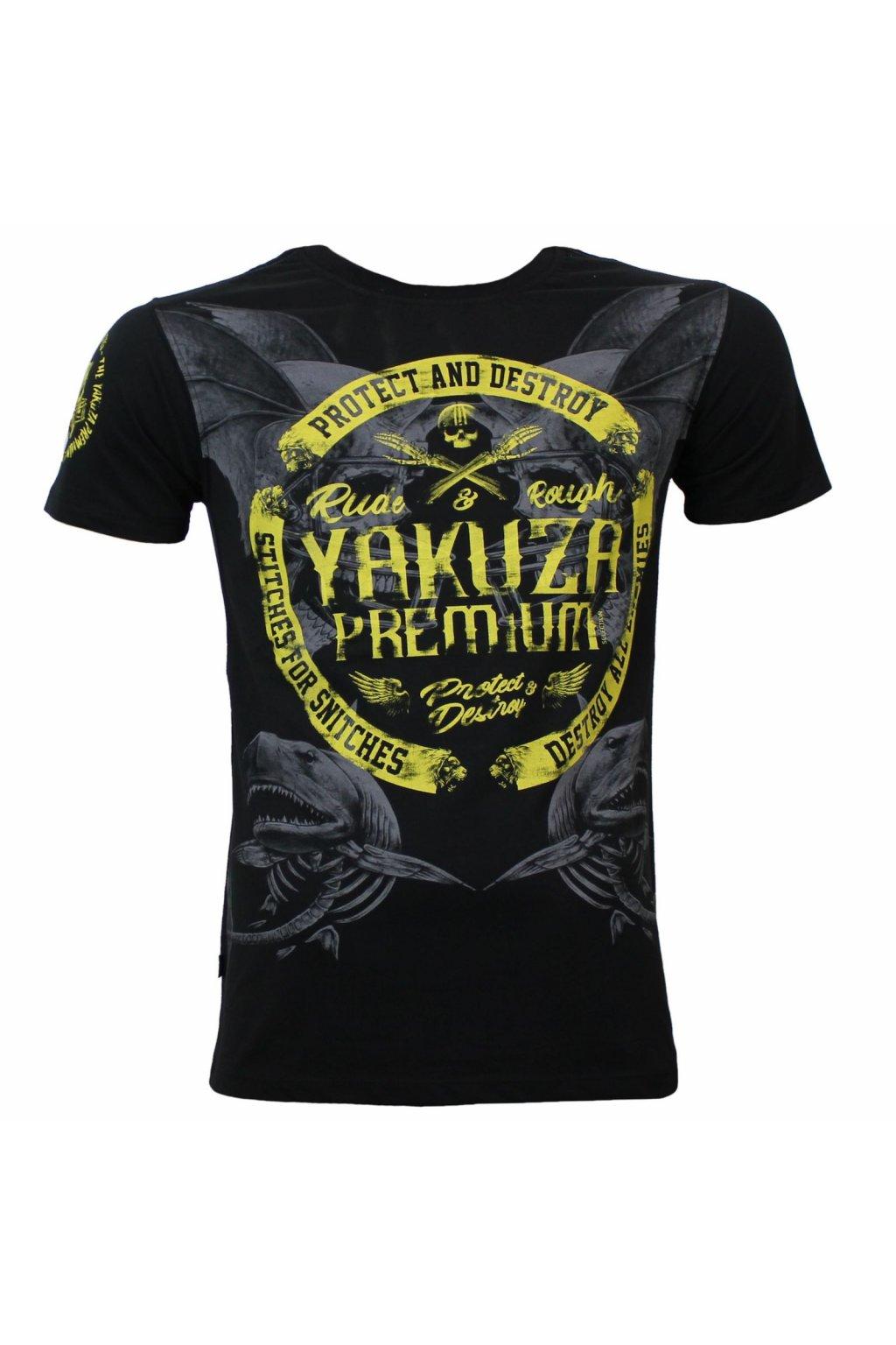 Pánské triko Yakuza Premium YPS 3020 černé obr1