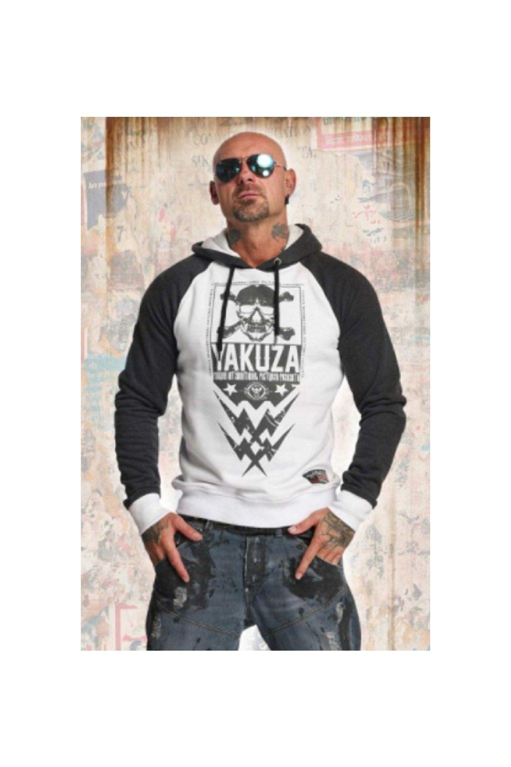 Pánská mikina s kapucí Yakuza Skull two face hoodie HOB 11002 obr1