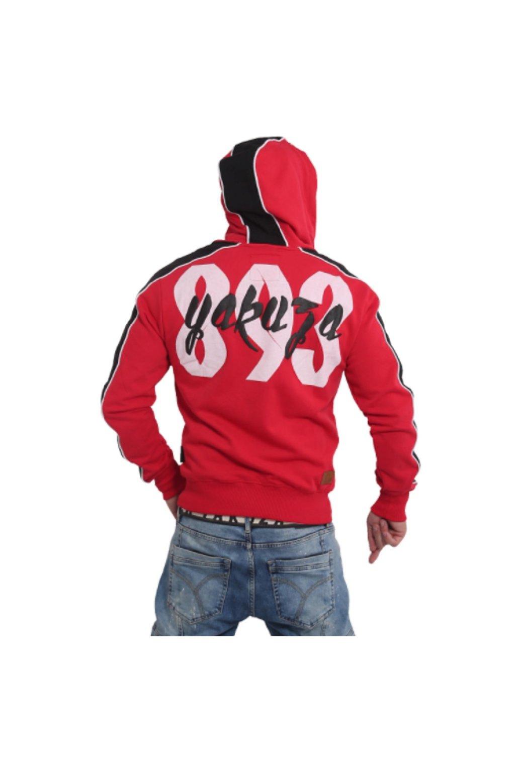 Yakuza mikina s kapucí Vintage Two Face HZB 16006 Ribbon Red obr1