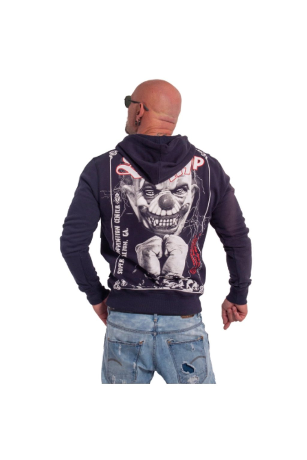 Yakuza mikina s kapucí Scrap HOB 136 Carbon obr1