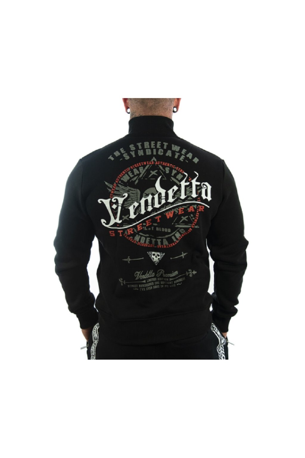 Pánská mikina se zipem Vendetta Inc .Blood black 5004 obr1