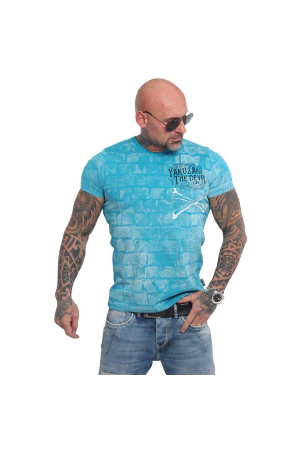 Yakuza tričko pánské The Devil TSB 16011 caribbean sea obr1