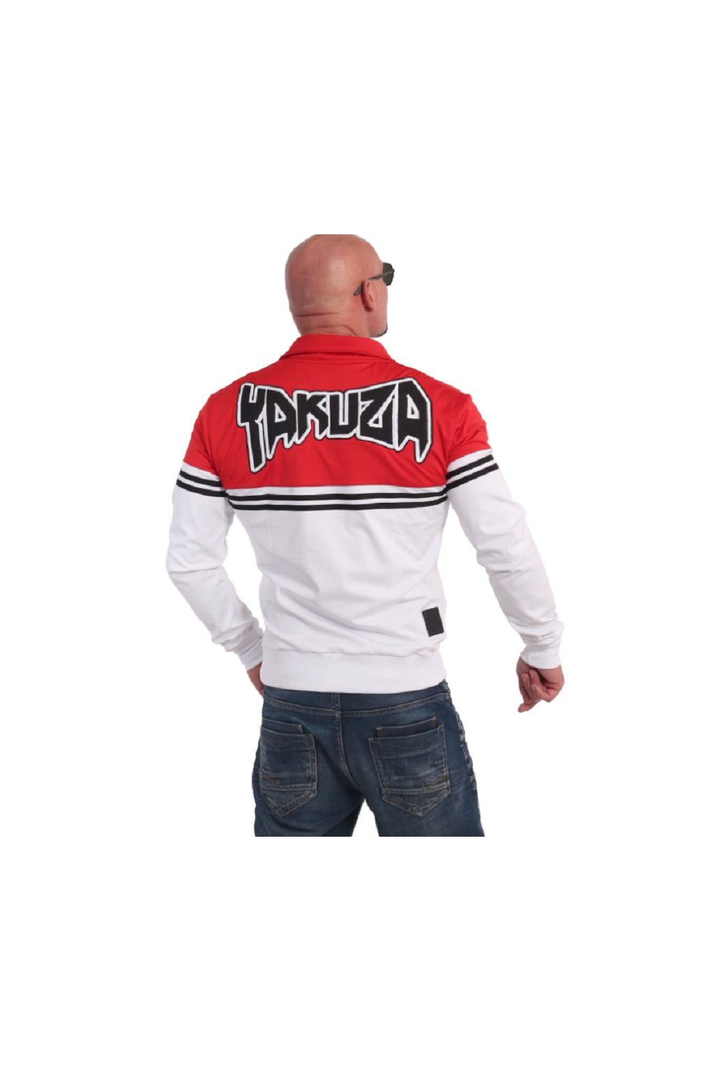 Yakuza mikina se zipem Toxin training Jacke ZB 17016 weiß/rot