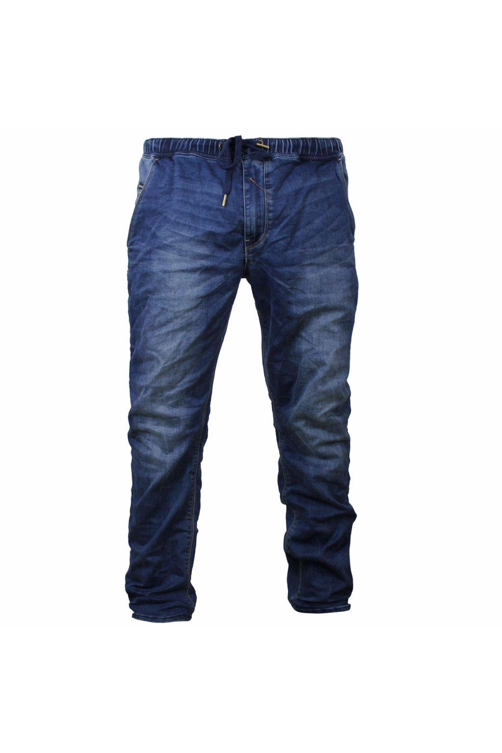 Yakuza Premium pánské jogger džíny YPJE 007 modré