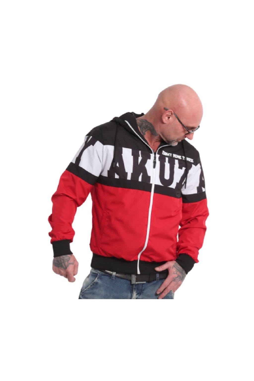 panska letni bunda yakuza wb18032 tri star windbraker black red