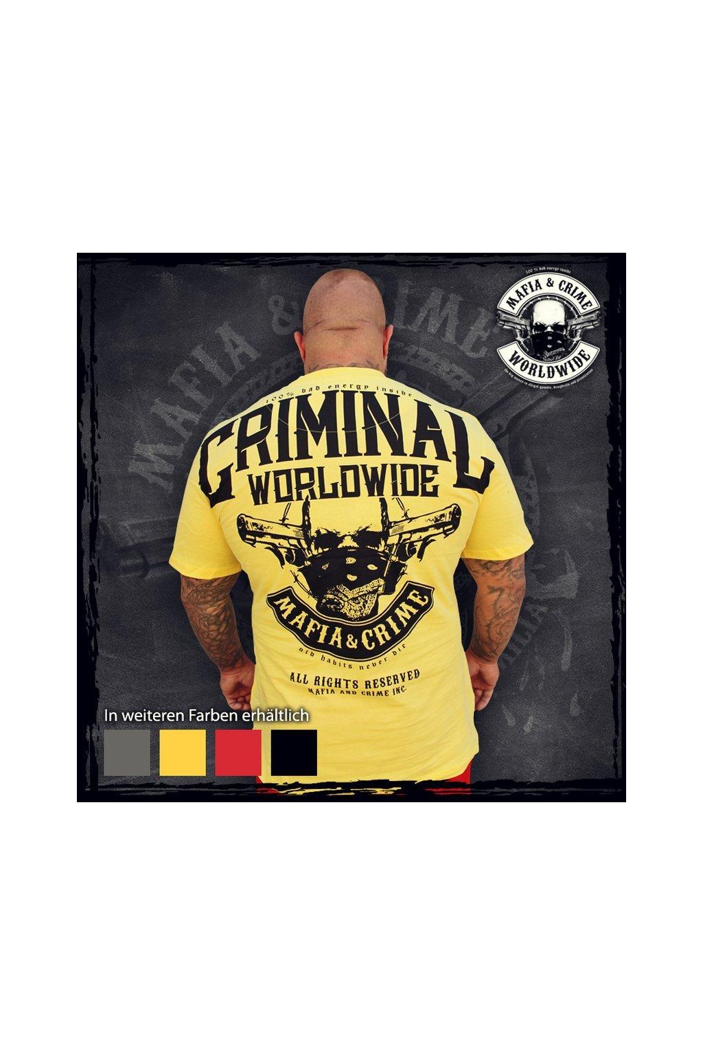 Mafia & Crime pánské triko Bad Energy NEW žlutá obr1