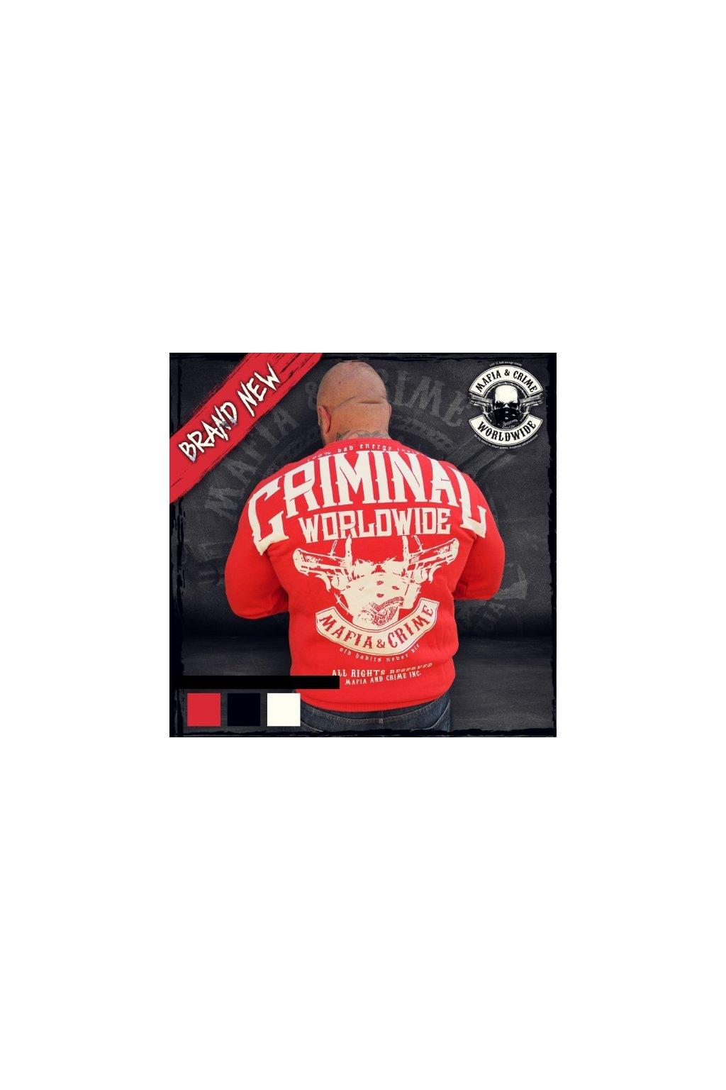 Pánská mikina Mafia & Crime MC Criminal červená obr1