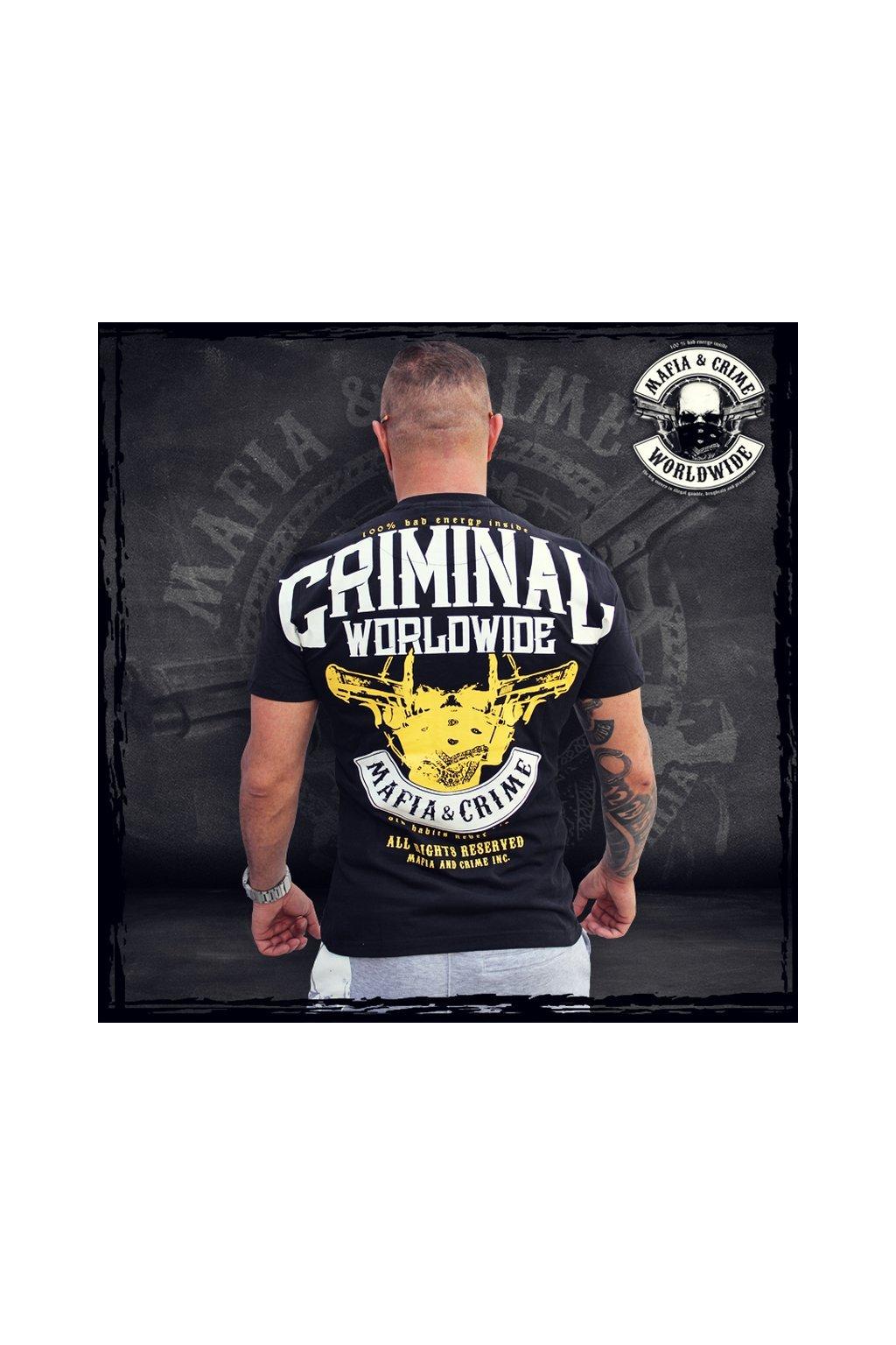 Pánské triko Mafia & Crime Bad Energy černá obr1