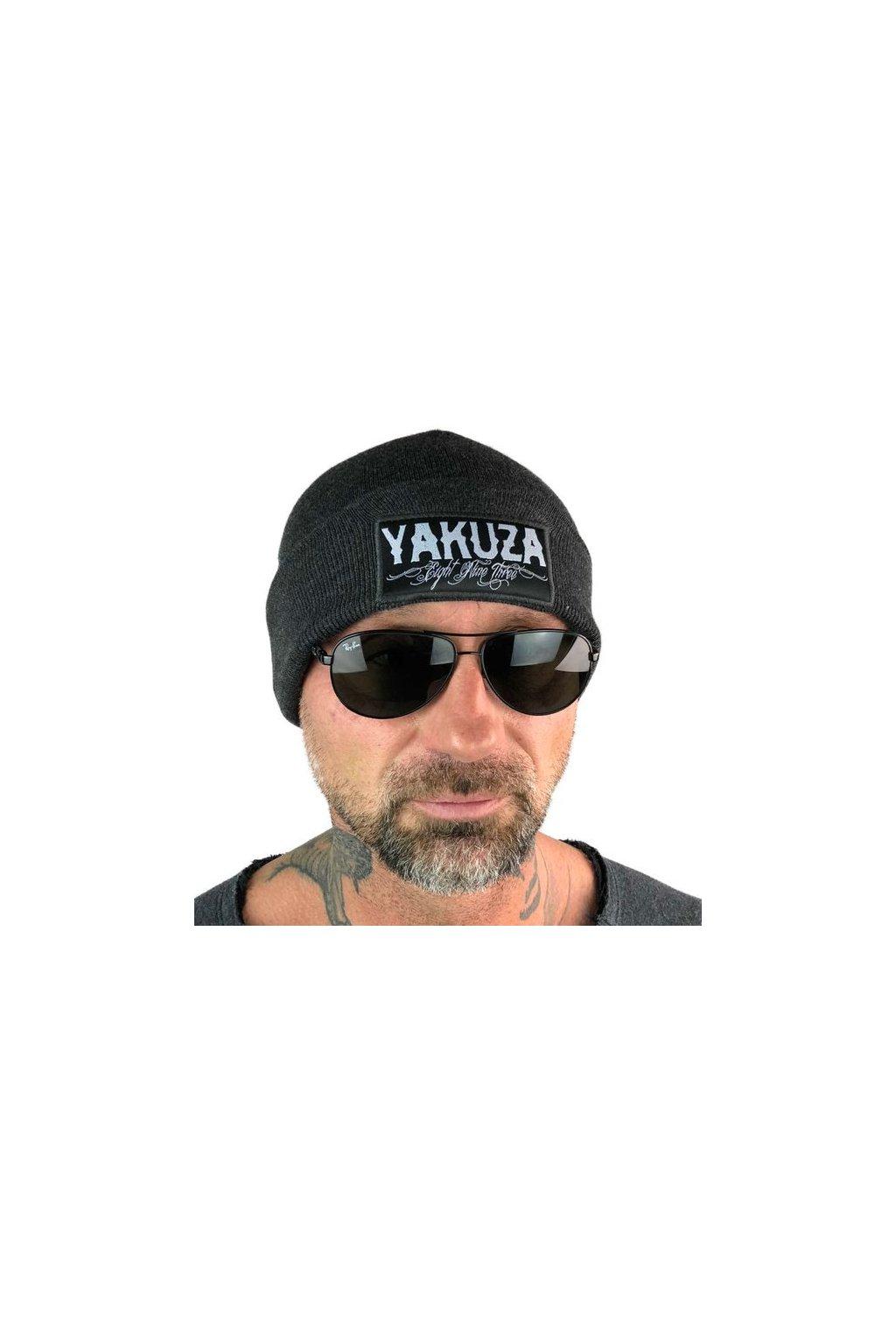 Kulich unisex Yakuza Claim Knit 13304 Beanie šedý obr1