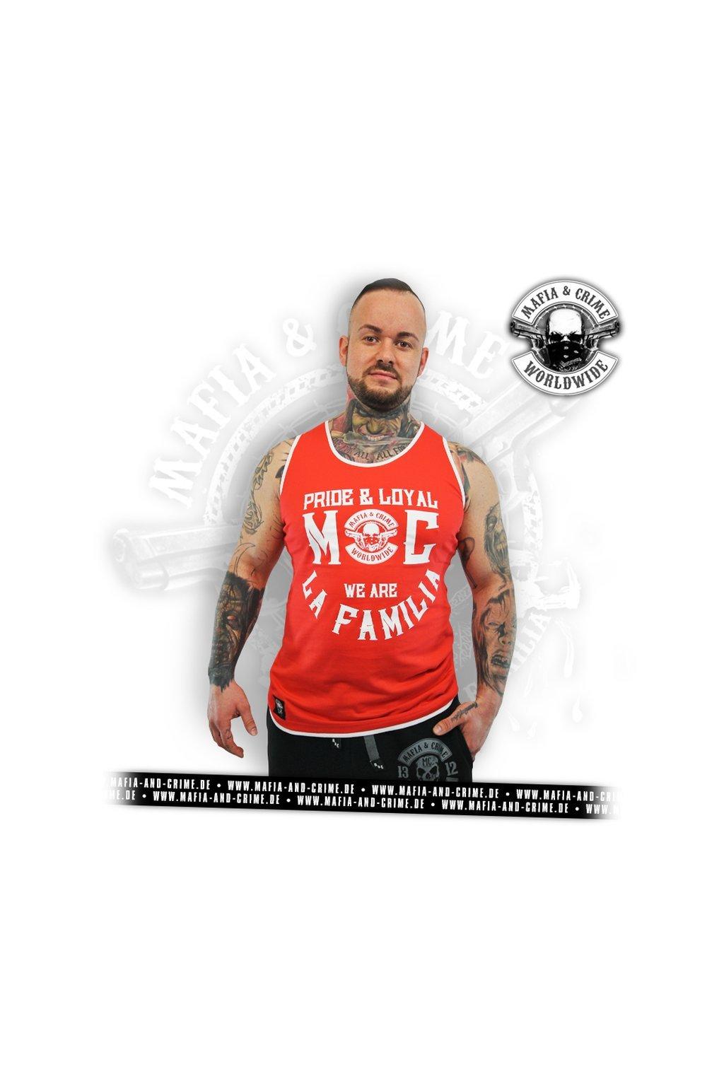 Pánské tílko Mafia & Crime Criminal Bodyshirt rot obr1
