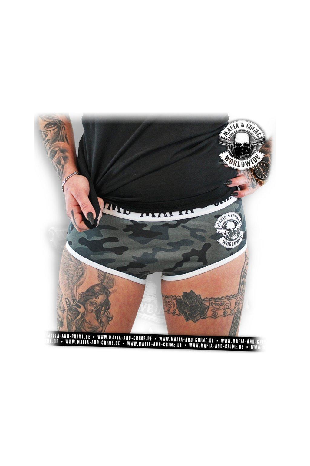 Dámské kalhotky F**K Hot Pants Underwear camo obr1
