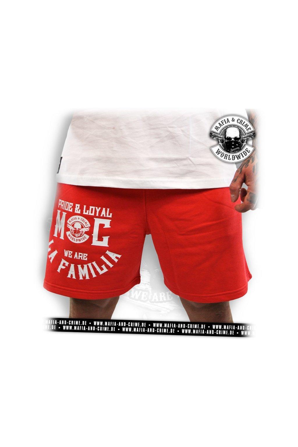 Pánské kraťasy Mafia & Crime La Familia Short Pant rot obr2