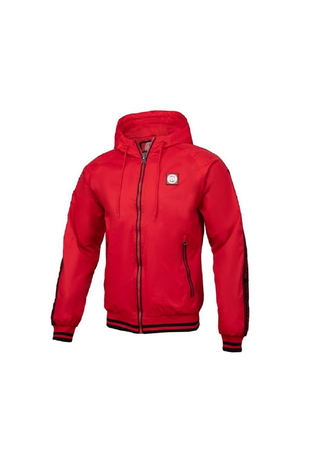 PitBull West Coast - letní bunda HULL červená obr1