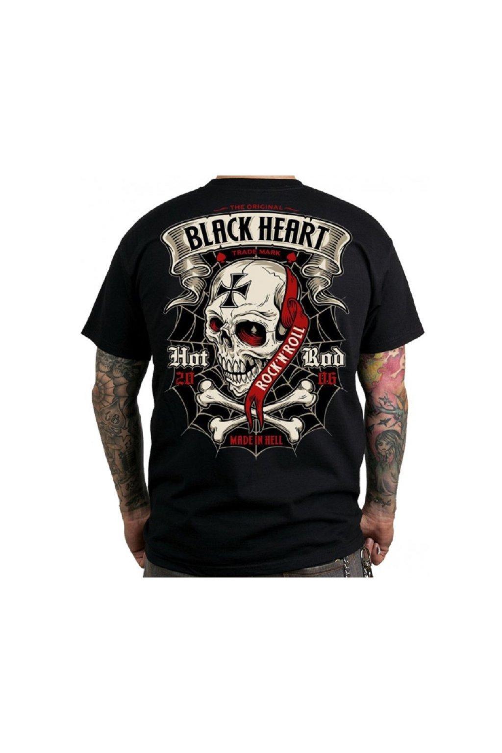 Pánské triko BLACK HEART CRUSTY DEMONS přední strana