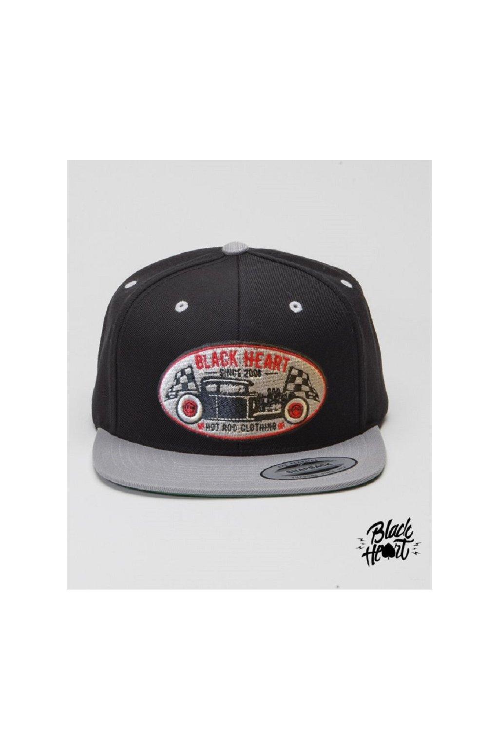 Kšiltovka BLACK HEART HOT ROD GREY 022-0043-BLK-ONE SIZE přední strana