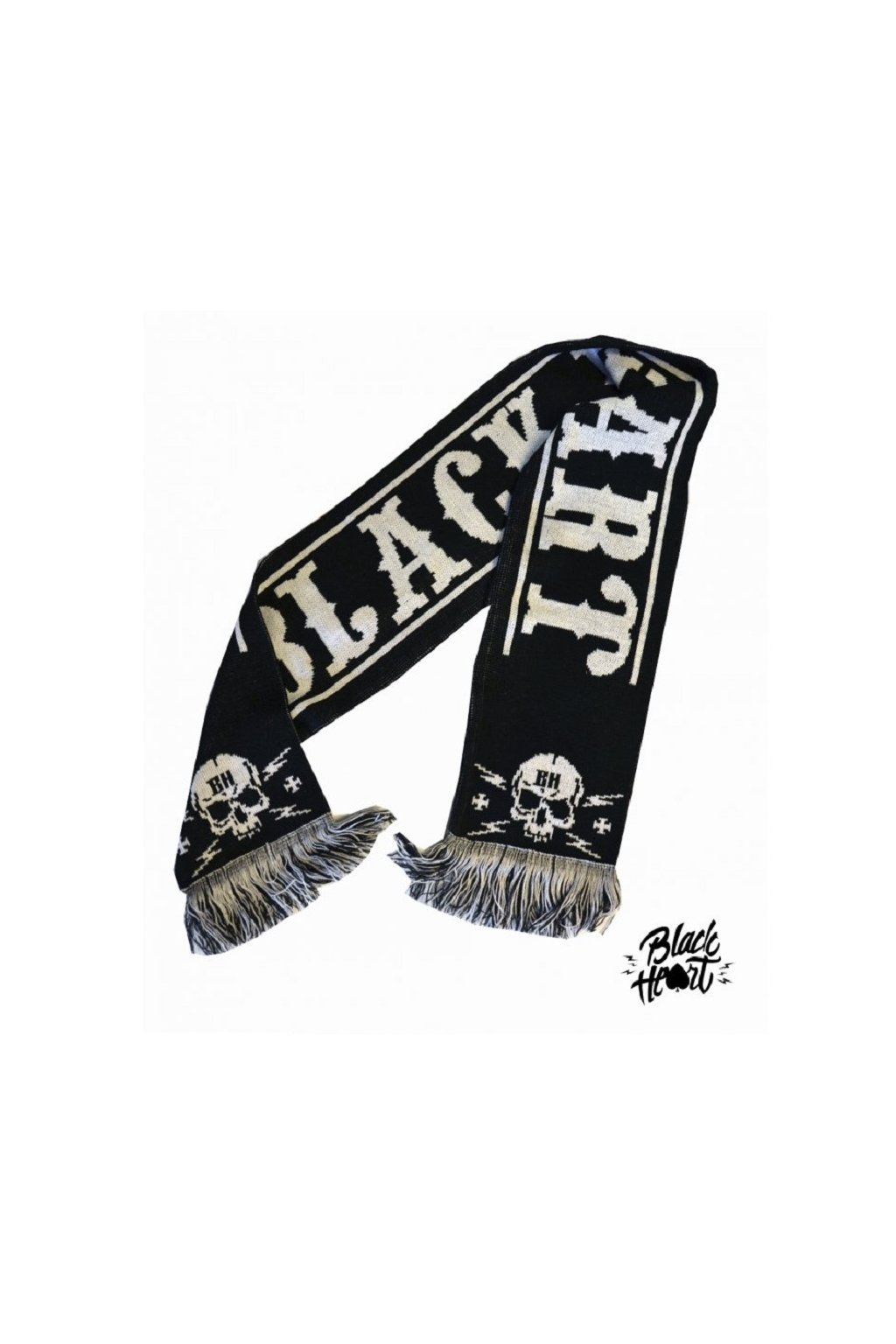 Šála BLACK HEART BASTARD GANG 028-0003-BLK přední strana