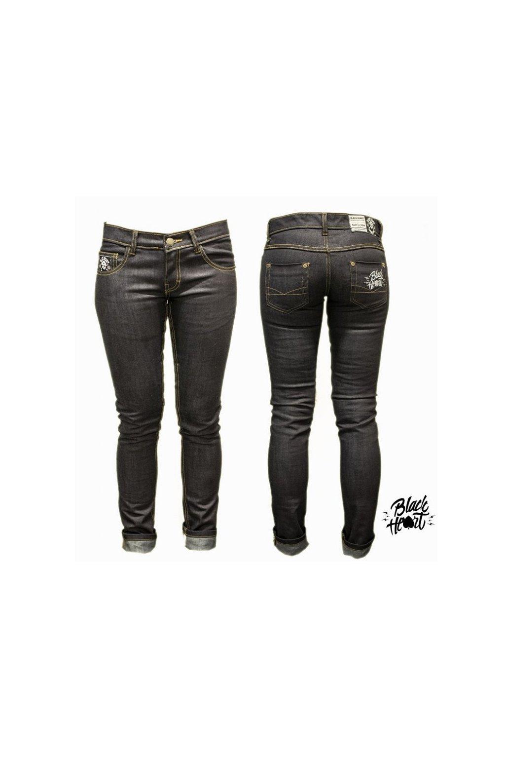 Dámské Jeans BLACK HEART HOT ROD přední strana