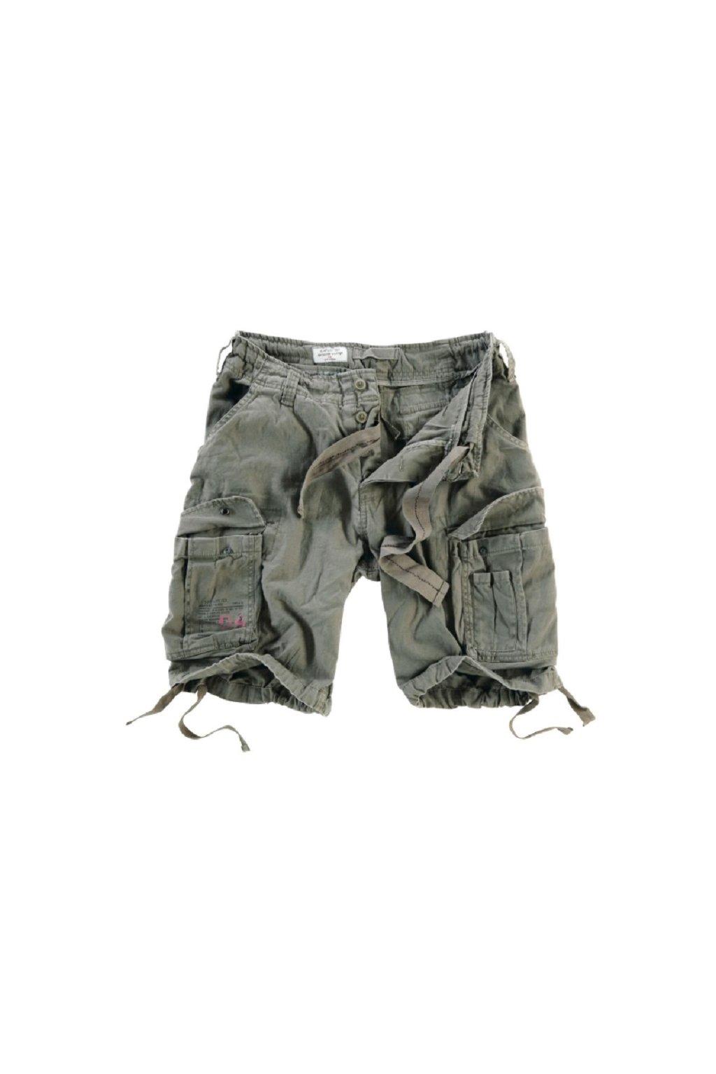 Kraťasy Airborne Vintage Shorts - olivové obr1