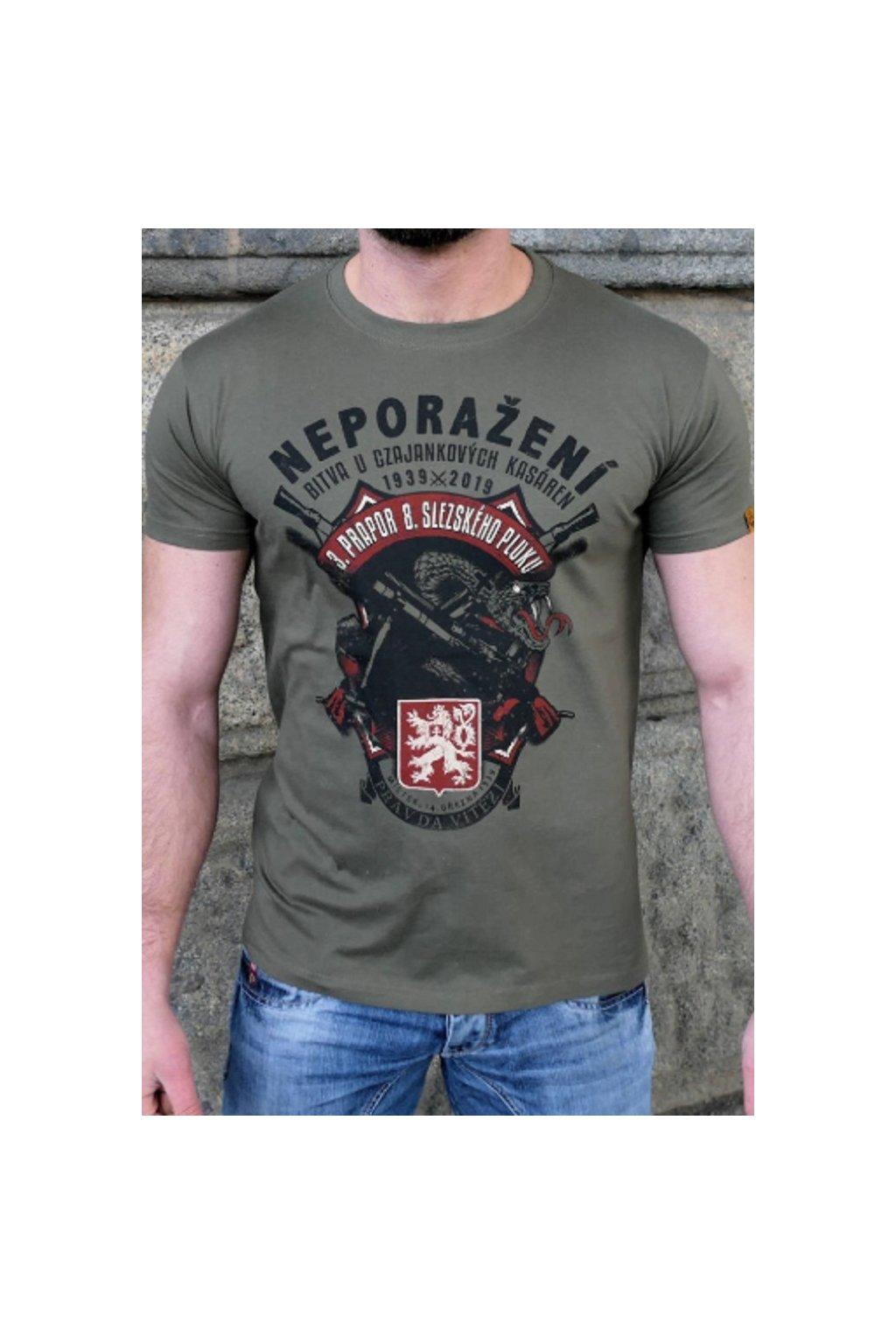 Radical Wear pánské triko Neporaženi Army obr1