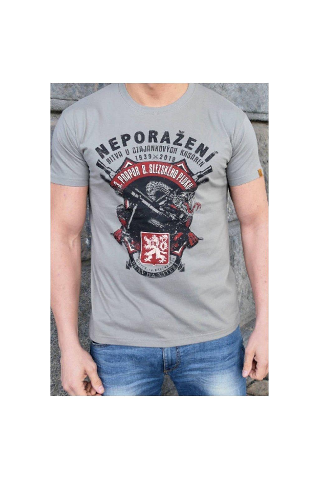 Radical Wear pánské triko Neporaženi šedivá obr1