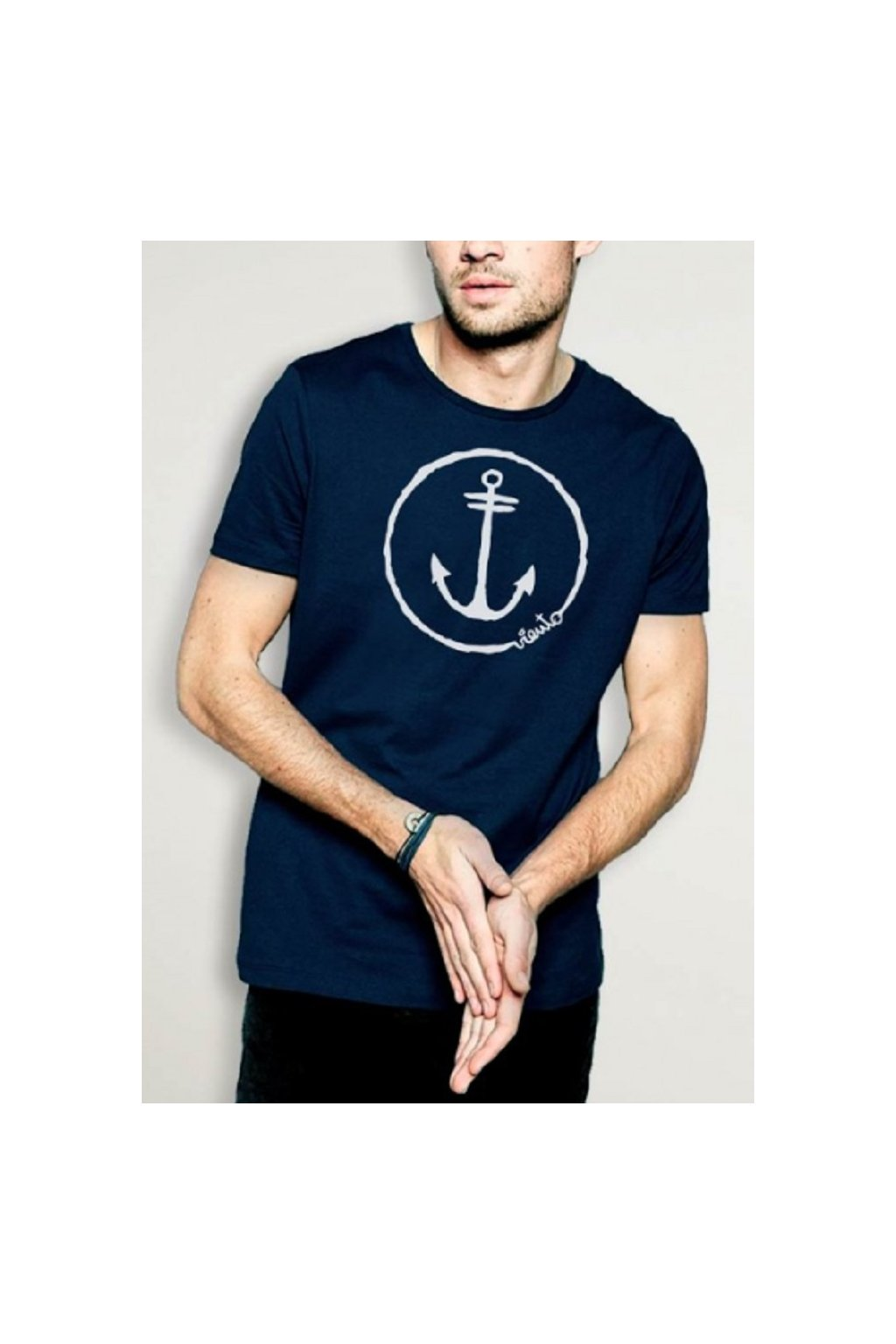 Viento pánské triko Anchor logo Navy obr1
