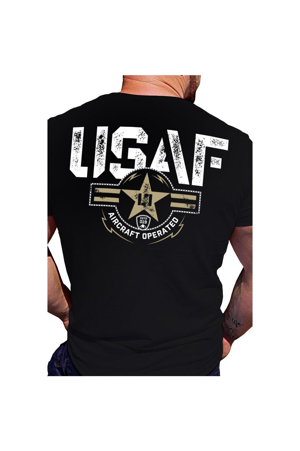 Legal Life pánské triko USAF čená obr1
