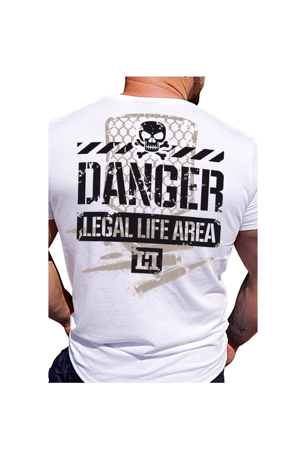 Legal Life pánské triko DANGER bílá obr1