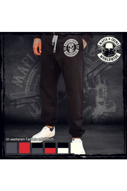 Mafia & Crime tepláky Criminal 1312 Black Grey obr1