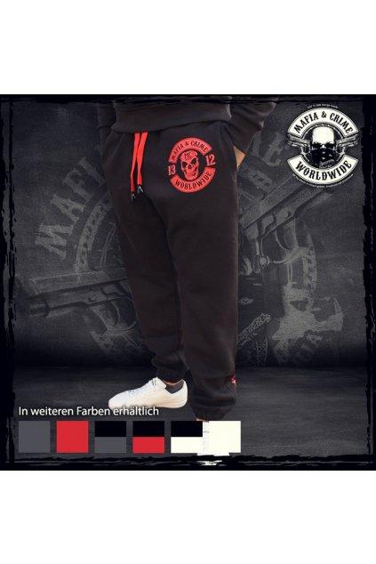 Mafia & Crime tepláky Criminal 1312 Black Red obr1