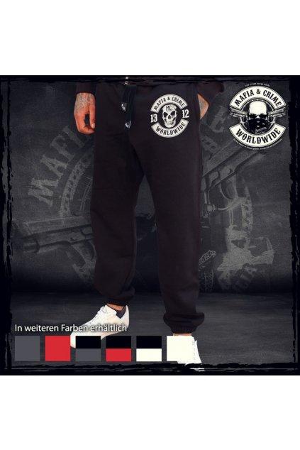 Mafia & Crime tepláky Criminal 1312 Black White obr1