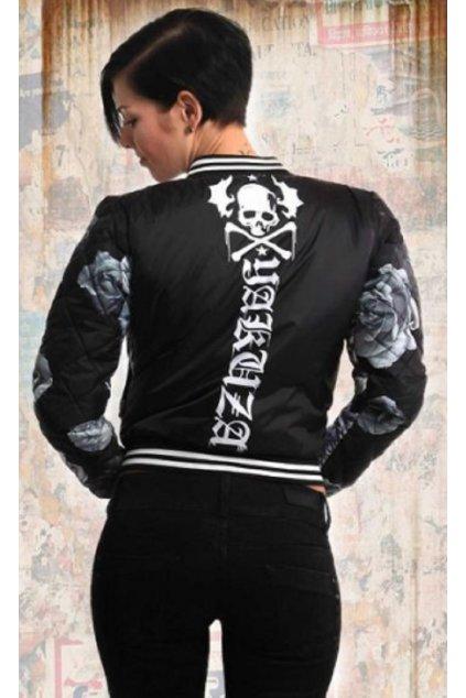 Dámská bunda Yakuza Baseball-Jacke Roses GJB 13119 Black obr1
