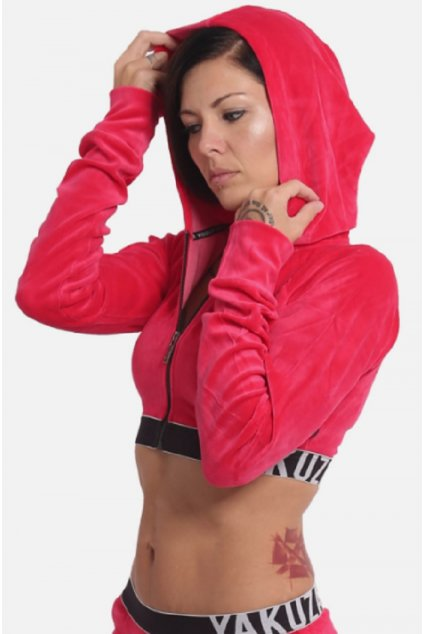 Yakuza S&F Sports Line Active dámska mikina na zips GHZB 14503 rose red obr1