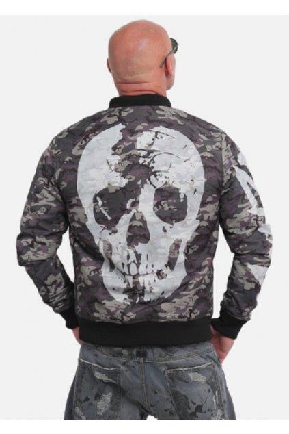 Pánská bunda Yakuza Stealth Skull Bomber Jacket JB 14024 obr1