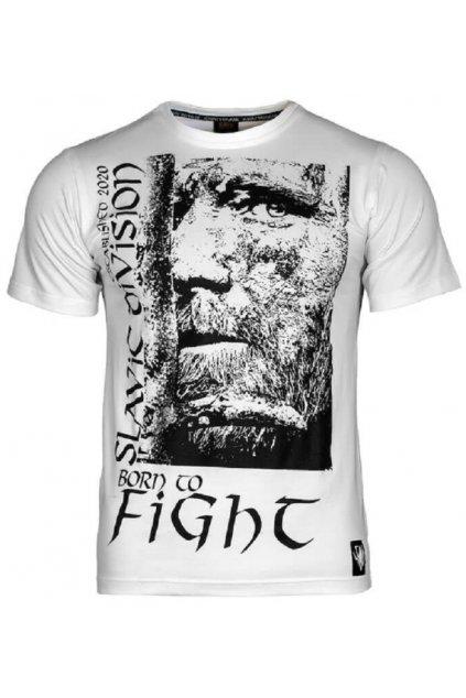 Slavic Division pánské triko BORN TO FIGHT bílá obr1
