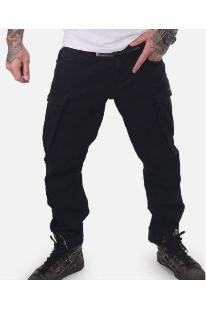 Pánské kalhoty Yakuza cargo nohavice CORE CARGO PANTS CPB 15010 Černé