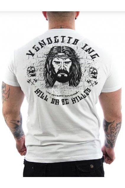 Pánské triko Vendetta Inc. Jesus weiß VD-1094 obr1