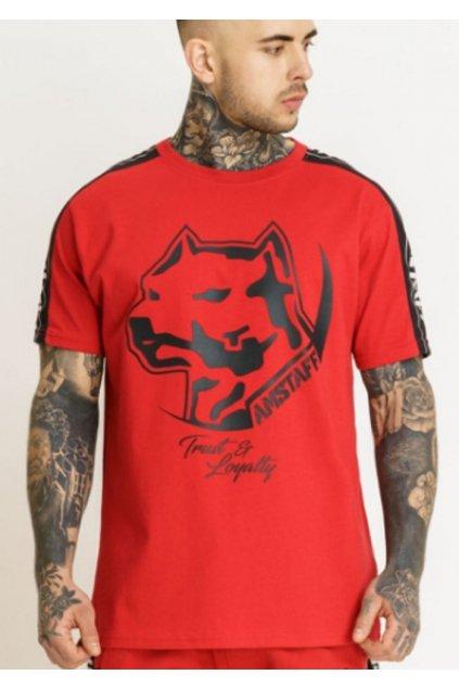 Pánské triko Amstaff Avator červená přední strana