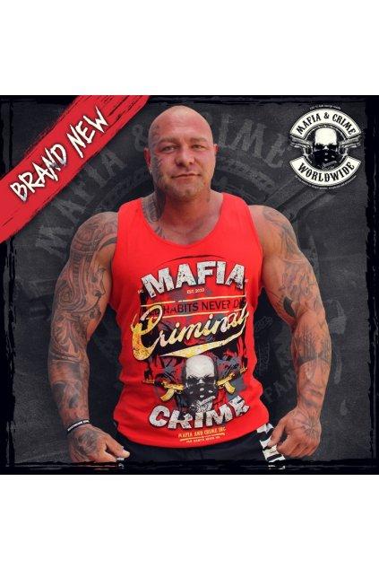 Pánské tílko Mafia & Crime Criminal červená obr1