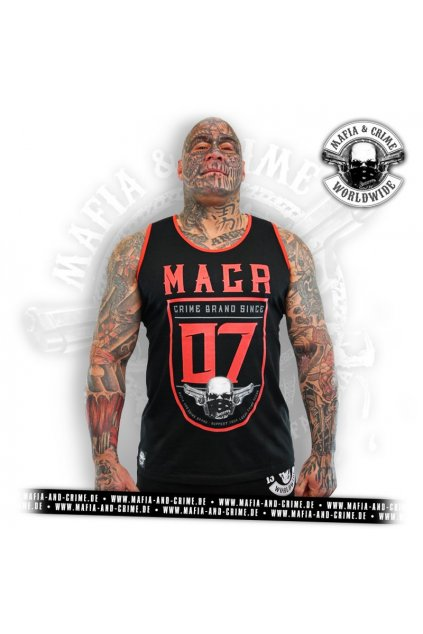 Pánské tílko Mafia & Crime MACR Bodyshirt schwartz 612