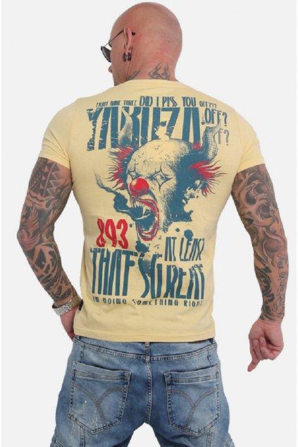 Pánské triko Yakuza Piss Off TSB 16020 Bledě Žlutá obr1
