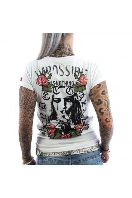 Vendetta dámské triko VD-0004 Nothing bílé obr1