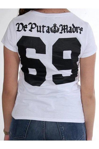 Dámské triko De Puta Madre 69 Printed 69 bílé obr1