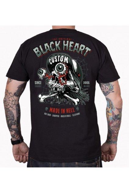 Pánské Triko BLACK HEART FULL PUNK přední strana
