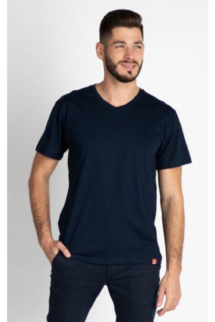 CityZen bavlněné triko Basic NAVY střih V obr1