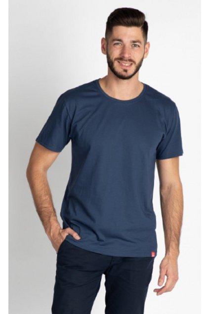 CityZen bavlněné triko Basic modré kulatý střih obr1