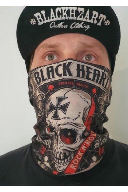 Nákrčník BLACK HEART CRUSTY DEMONS přední strana